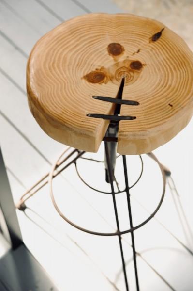 Barhocker 'Craig', höhenverstellbar, Ø 48 cm, H 70-77 cm