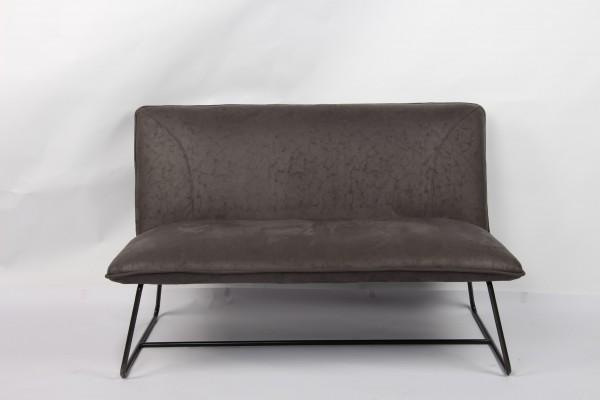 Sessel 'Merias', 2-Sitzer, grau, T 78 cm, B 124 cm, H 77 cm