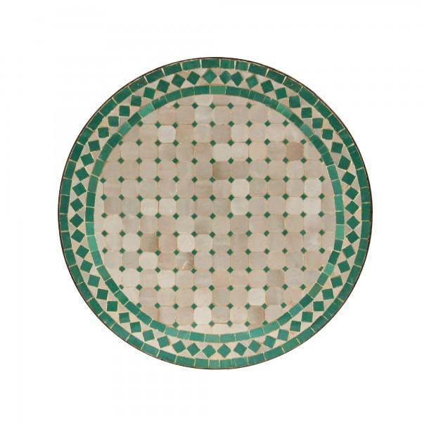 Mosaiktisch 'Turquoise', türkis, creme, Ø 60 cm, H 72 cm