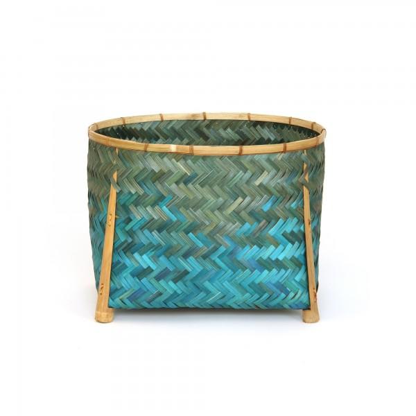 Bambuskorb L, grün, L 31 cm, B 41 cm, H 31 cm