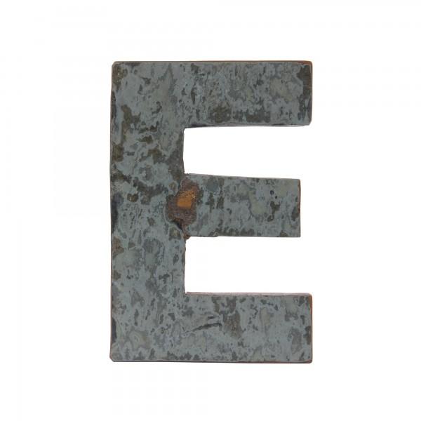 Holzbuchstabe 'E', mehrfarbig, T 2,5 cm, B 13 cm, H 19 cm