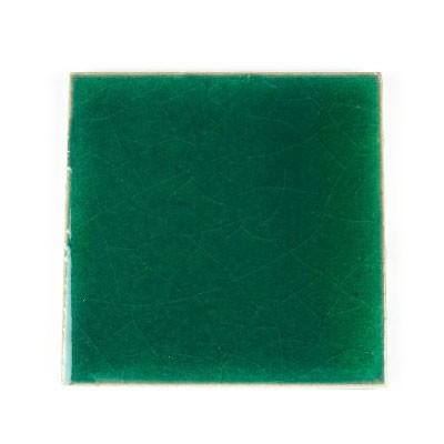"""Handglasierte Fliese """"Emerald"""", aus Thailand, L 10 cm, B 10 cm"""