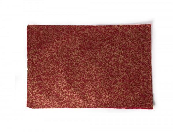 """Geschenkpapier """"Blumen rot"""", handgeschöpft, L 51 cm, B 76 cm"""