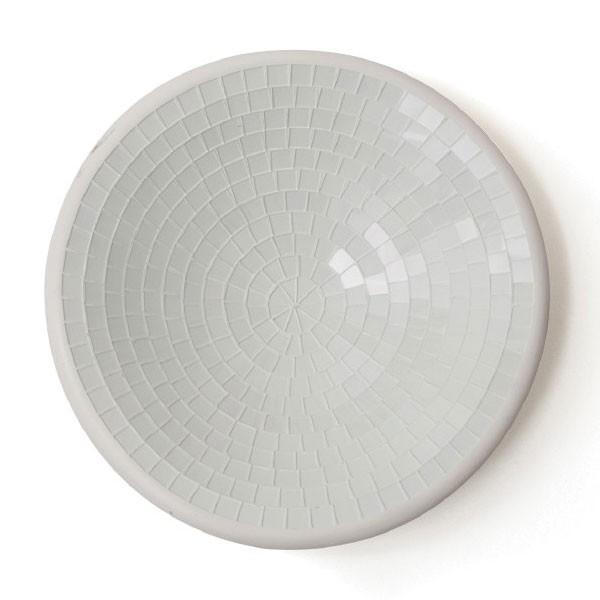 Glasmosaikschüssel, weiß, Ø 20 cm