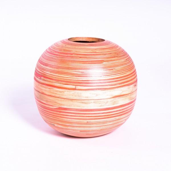 Bambusvase, orange/natur, Ø 25 cm, H 22 cm