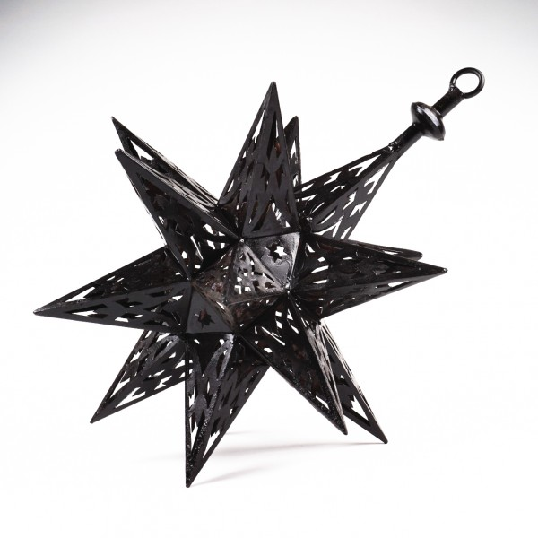 "Laterne ""Stern"", schwarz, Ø 42 cm"