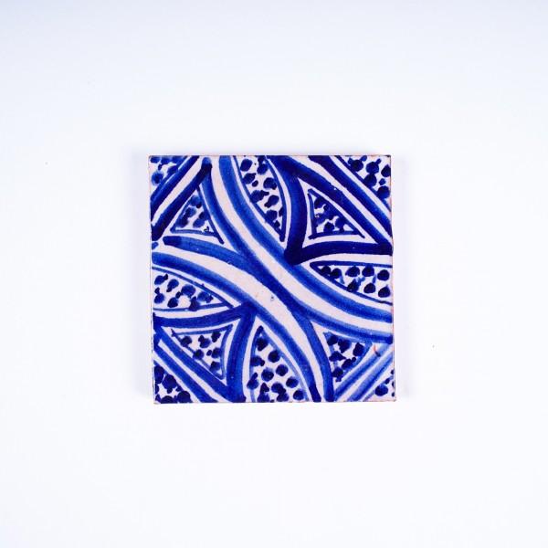 """Fliese """"crossing"""", blau/weiß, L 10 cm, B 10 cm, H 1cm"""