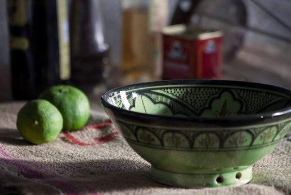 Zierschale, grün, schwarz, Ø 20 cm, H 9 cm