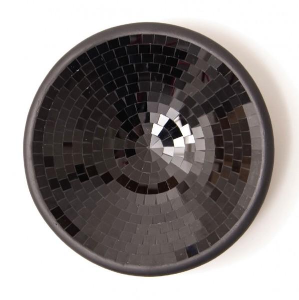 Glasmosaikschüssel, schwarz, Ø 20 cm