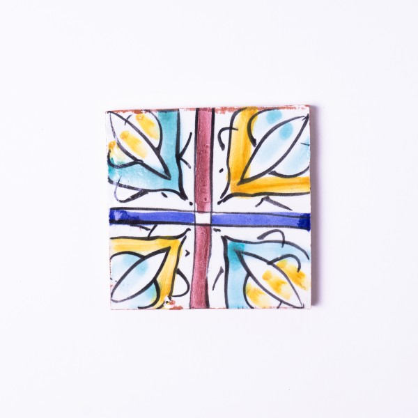 Fliese 'fenètre colorè', multicolor, L 10 cm, B 10 cm, H 1cm