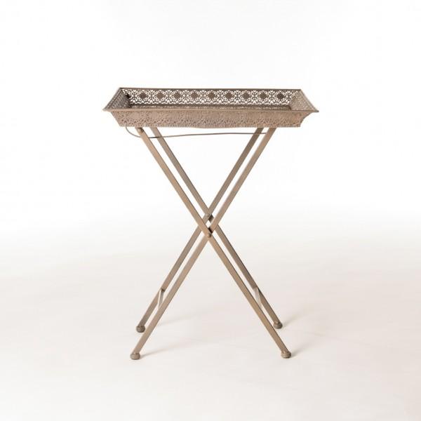 """Metalltisch """"Flamrun"""", mit Standfüßen, L 42 cm, B 42 cm, H 52 cm"""