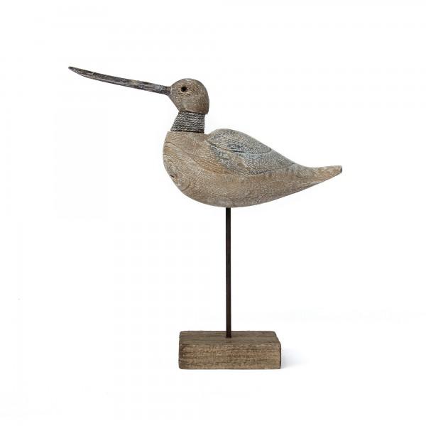 Vogel auf Ständer, natur, T 7 cm, B 25 cm, H 26 cm