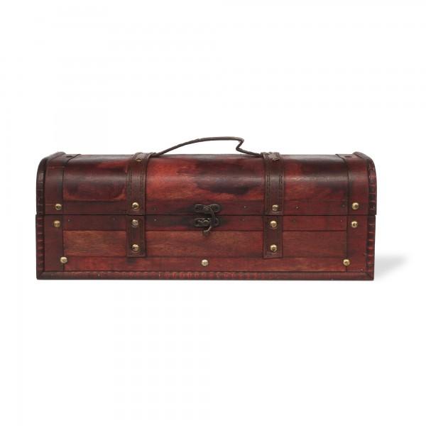 Kofferbox, braun, T 36,5 cm, B 13,5 cm, H 13 cm