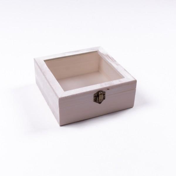 """Holzbox """"Baxian antique"""" mit Deckel, natur, L 17 cm, B 17 cm, H 7 cm"""