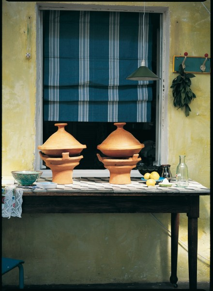 "Tajine ""Tetouan"", erdfarben, unglasiert, Ø 34 cm"