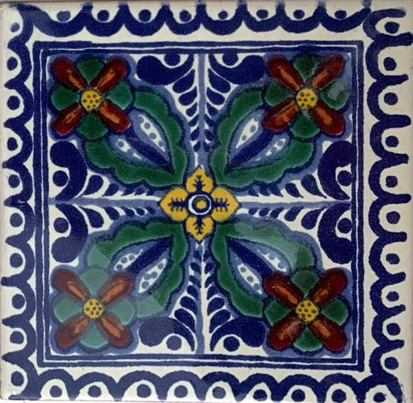 Kachel 'Susana', multicolor, T 10 cm, B 10 cm, H 0,5 cm