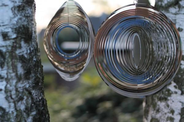 Windspiel 'Giscard', grau, Ø 22 cm, H 22 cm