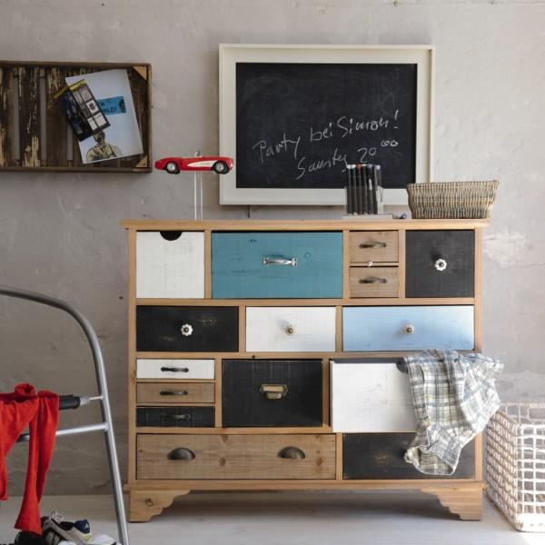 """Schubladenschrank """"Maret"""", mit 15 Schubladen, multicolor, T 37 cm, B 108 cm, H 88 cm"""