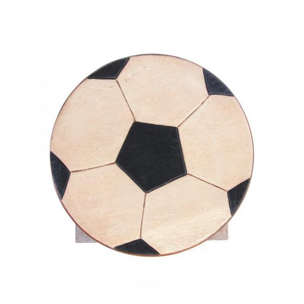 Hocker 'Fussball', schwarz, weiß, Ø 24 cm, H 25 cm