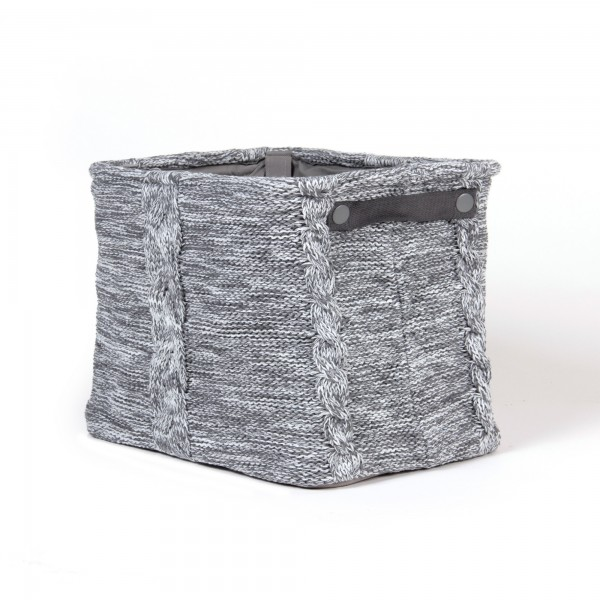 """Wollbox """"Oupeye"""", grau, L 26 cm, B 36 cm, H 30 cm"""