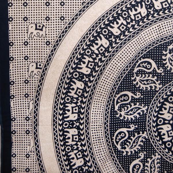 """Multifunktionstuch """"Haryana"""", schwarz/beige, L 240 cm, B 220 cm"""