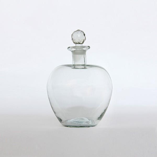Likörflasche 'Pomme', klar, T 1,5 cm, Ø 15 cm, H 25 cm