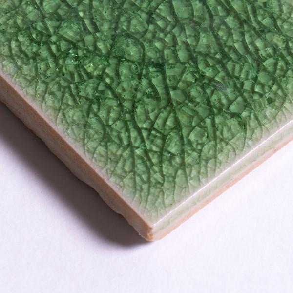 "Fliese ""Craquele"", pastell-grün, L 10 cm, B 10 cm"