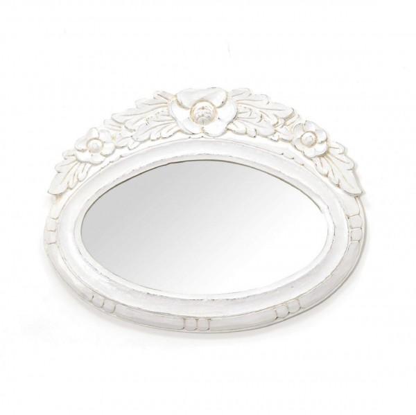 Spiegel oval, weiß, L 46,5 cm, B 36 cm