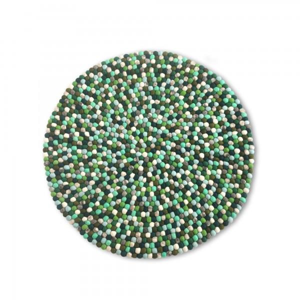 Filz-Teppich, grüntöne, Ø 90 cm, H cm