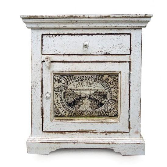 Nachttisch 'Setu Phlo', antik-weiß, L 36 cm, B 60 cm, H 64 cm