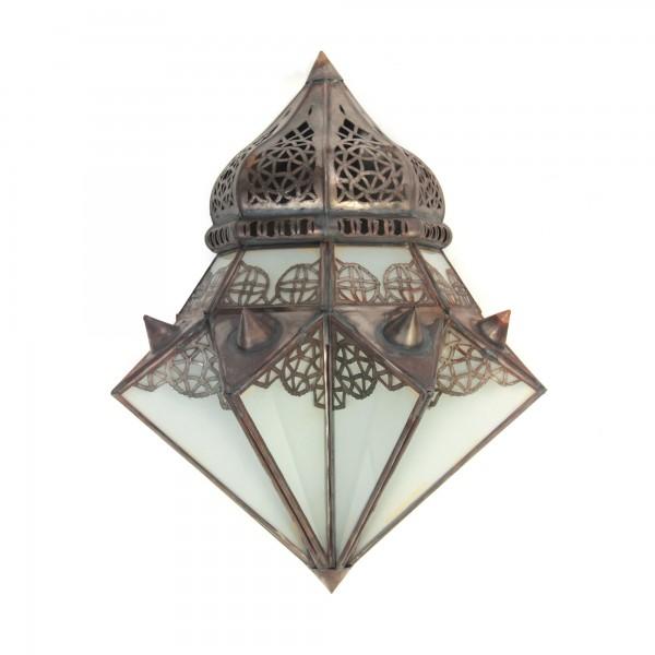 Wandlaterne 'Sabrina', antik-braun, B 32 cm, H 37 cm