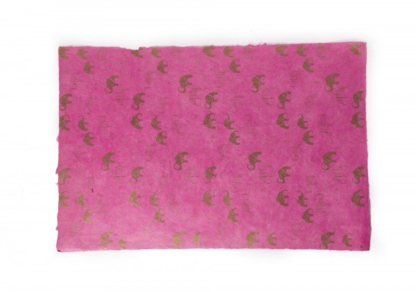 """Geschenkpapier """"Elefant"""", handgeschöpft, L 51 cm, B 76 cm"""