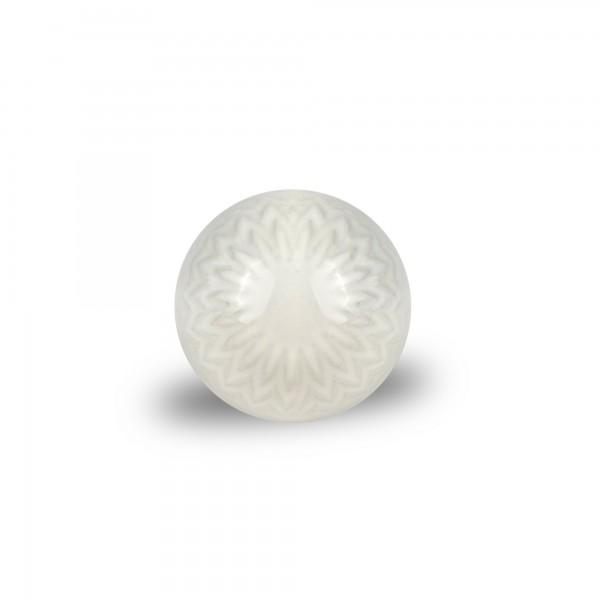 Keramik-Knauf 'Zacken', weiß, Ø 4 cm, H 2,5 cm