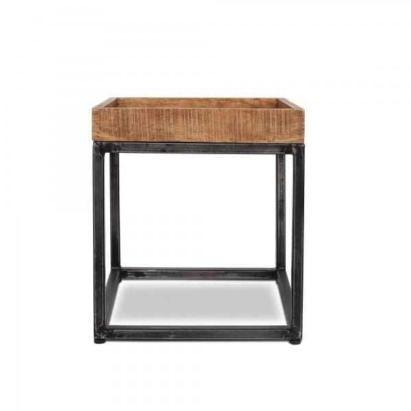Beistelltisch 'Cubert' S, natur, schwarz, T 37 cm, B 37 cm, H 41 cm