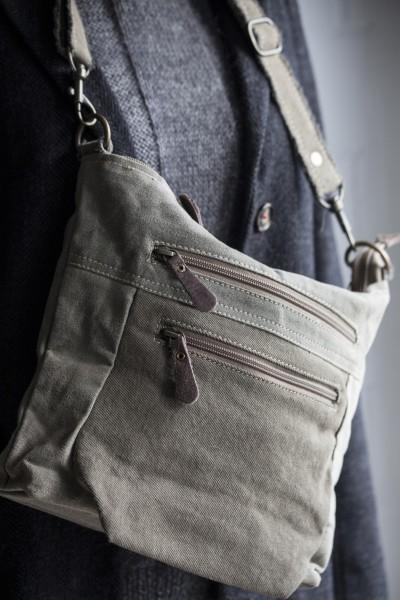 Tasche 'Tyne', beige, grau, braun, T 30 cm, B 26 cm