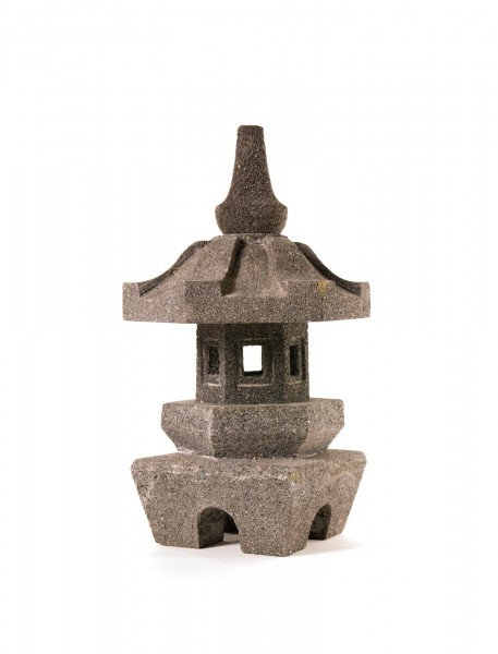 Tempelleuchte, grau, T 23 cm, B 23 cm, H 40 cm