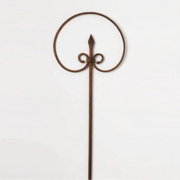 Steckeisen handgeschmiedet, schwarz, H 140 cm