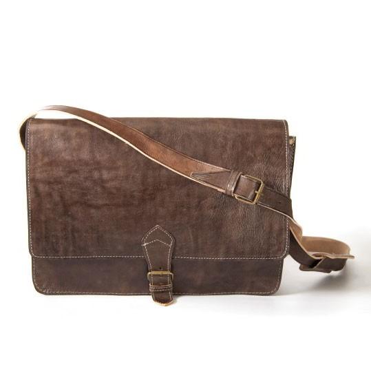Messengertasche, dunkelbraun, B 40 cm, H 30 cm