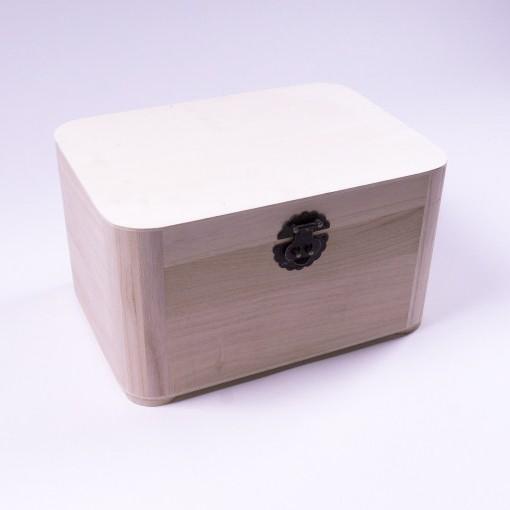 "Holztruhe ""Baihu antique"" mit Deckel, natur, L 25 cm, B 34 cm, H 20 cm"