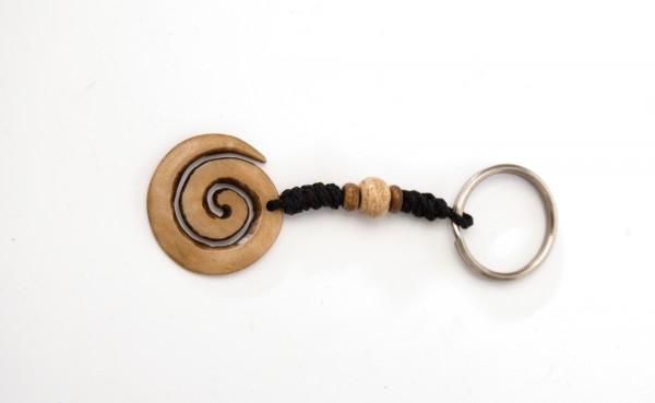 Schlüsselanhänger Horn, natur