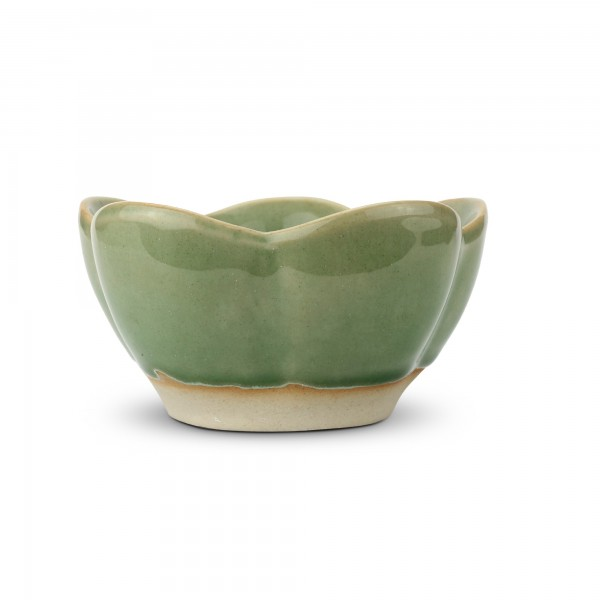 Schale 'Seerose', grün, T 15,5 cm, B 15,5 cm, H 8 cm