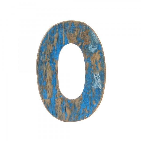 Holzbuchstabe 'O', mehrfarbig, T 2,5 cm, B 13 cm, H 19 cm