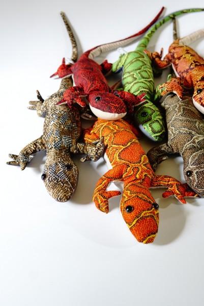 Sandtier 'Gecko Longtail' L, multicolor, T 58 cm