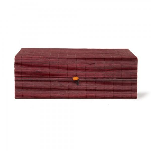Bambus-Box S, dunkelbraun, T 8,5 cm, B 19 cm, H 5 cm