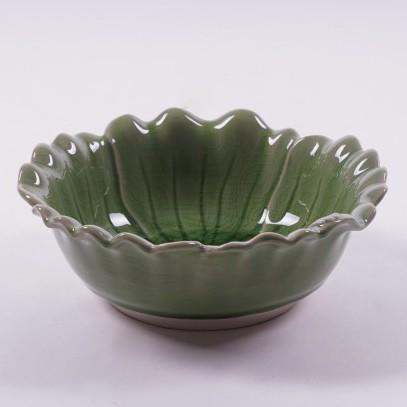 "Schüssel ""Plumeria"", grün, Ø 19 cm, H 7 cm"