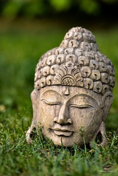 Buddha-Maske, natur, T 9 cm, B 21 cm, H 28 cm