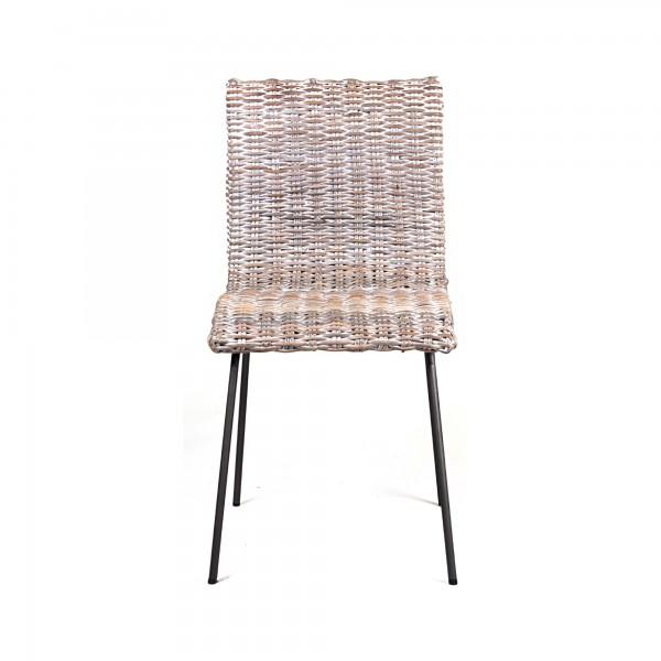 Stuhl 'Tegal', geweißt, T 61 cm, B 46 cm, H 88 cm
