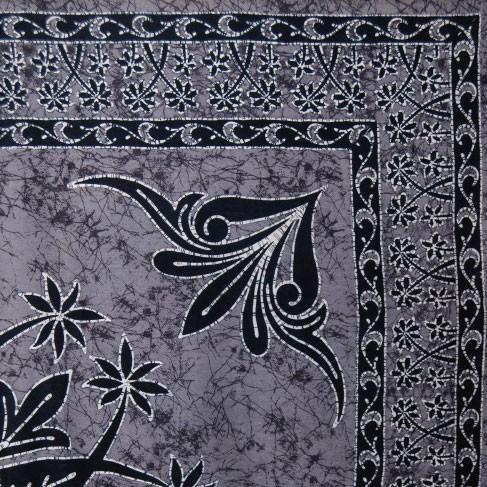 "Multifunktionstuch ""Panaji"", schwarz/grau, L 240 cm, B 220 cm"
