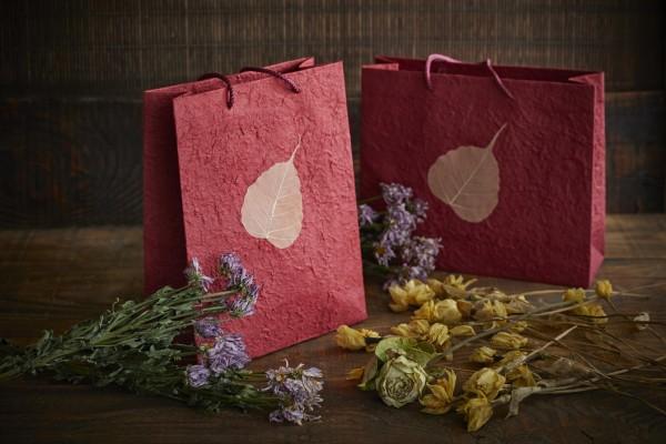 Tasche Bodhi Blatt, burgund, T 10 cm, B 25 cm, H 30 cm