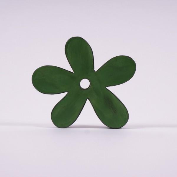 "Holz-Aufhänger ""Blume"", grün, B 15 cm, H 15 cm"